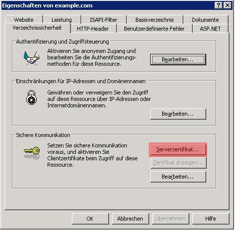 Ssl Zertifikat Installieren Unter Iis 5060 Ssl Trust